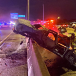 A major crash involving a car that was on fire caused a traffic nightmare on the Palmetto Expressway early Tuesday, Dec. 29, 2020 in Miami Lakes.